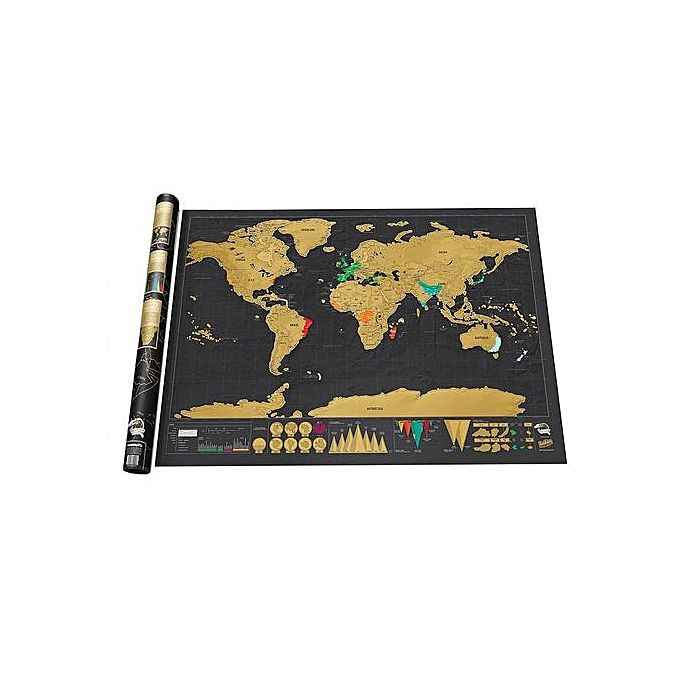 Creative deluxe edition erasable world map wall sticker for home creative deluxe edition erasable world map wall sticker for home decoration black gold jumia kenya gumiabroncs Image collections