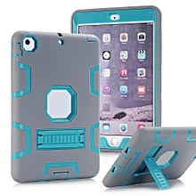 For iPad Mini /2 /3 Dual Layer Hybrid Armor Protective Stand Cover Case-Multicolor