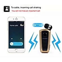 F910 FineBlue Wireless Bluetooth Vibrating Alert Clip Headset Earphone-Rose Gold