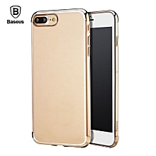 Baseus Shining Series Ultra Slim Soft Clear Panel Electroplate Plating TPU Case Cover For IPhone 7 Plus_TYRANT GOLD