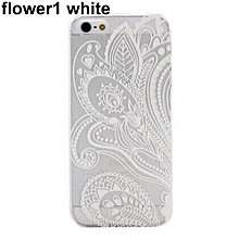 Bluelans Hollow Flower1 Skin Case Paisley Feather Cover For IPhone 6 Plus White