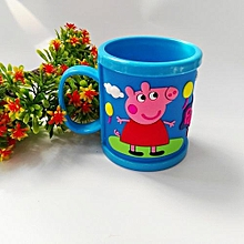Cartoon Peppa Pig Brushing Cup George Tooth Brush Cup Water Cups -Blue