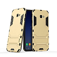 For Samsung Galaxy J4 Prime/J4 Plus 2018 Hybrid Silicone PC Rugged Armor Back Cover For J4 Prime 2 In 1 Shockproof Stand Case