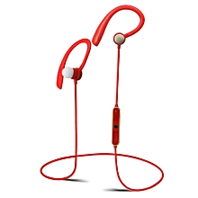 Wireless Bluetooth Headset Stereo Sports Earphone Headphone For iPhone -Red