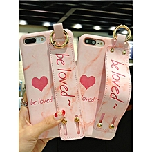 iPhone 8/8 Plus/7/7 Plus/6/6 Plus/6S/6S Plus Phone Case Heart Pattern Cover With Lanyard____IPHONE 6PLUS/6S PLUS____pink