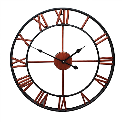 f0bdd07c3f13 Generic Outdoor Garden Large Wall Clock Big Roman Numerals Giant Open Face  Metal Bronze