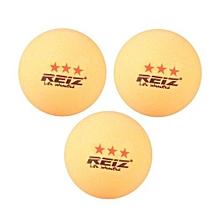 UJ REIZ RZ1813 Good Bounce 3PCS/SET 40MM 3-Star Table Tennis Balls For Match-orange-orange