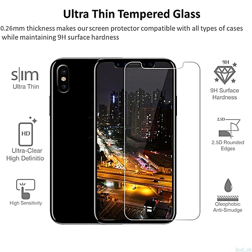 low priced 1e186 42191 2.5D 9H Scratch Resistant Tempered Glass Screen Protector Film For iPhone X