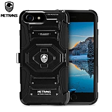 Three-piece Case Anti-knocking Anti-falling Cover For IPhone 7 - Black