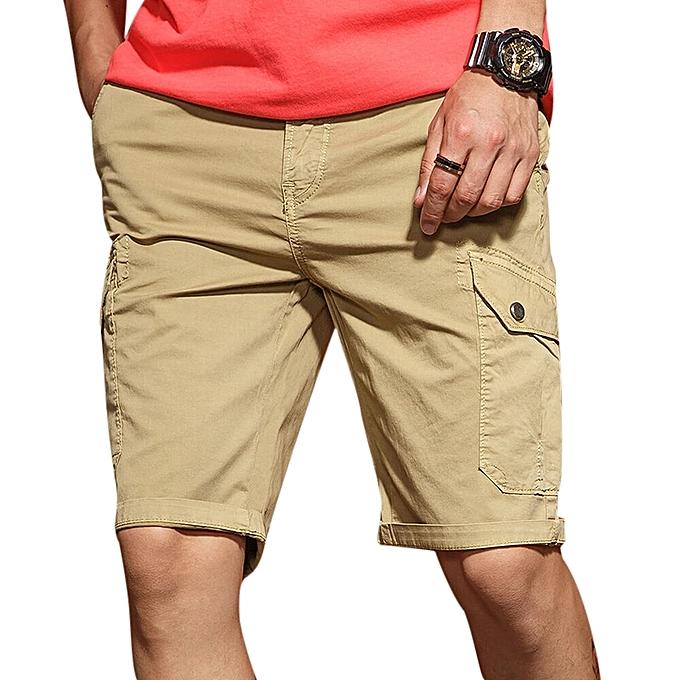 d9f9b8e7e3 Men's Casual Comfort Cotton Slim Shorts Pants Personality Multi Pocket  Solid Color Shorts