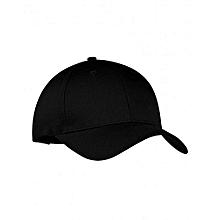 Black Plain Baseball Golf Cap