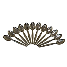 Stainless Steel Tea Spoon Set of 12 - Silver