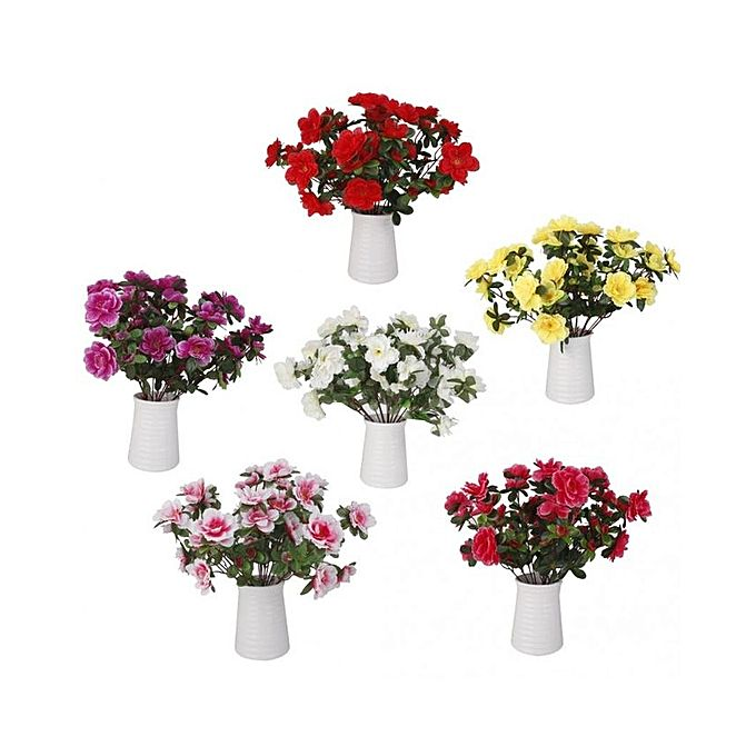 Magideal 2 bunches fake azalea artificial flowers bouquet for Home decorations on jumia