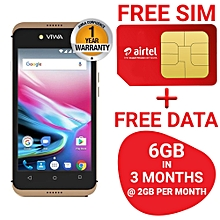 Light Mini, 8GB + 1GB (Dual SIM), Gold