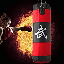 80cm Heavy Empty Hanging Punching Bag Training Gloves + Wraps Boxing MMA Kit New-