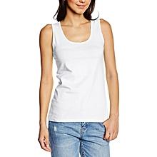 White 100% Heavy Cotton Lady-Fit Vest Top