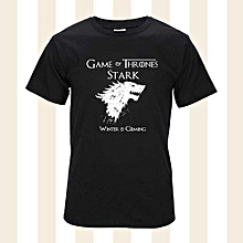 Game Of Thrones T Shirts Cool Men Simple Style Printing Summer Fashion Cotton Round Neck Short Sleeve Casual Tops
