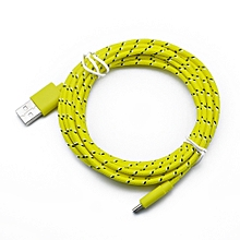 2M Micro USB Charger Sync Data Cable Cord for Cell Phone Lightgreen-Yellow