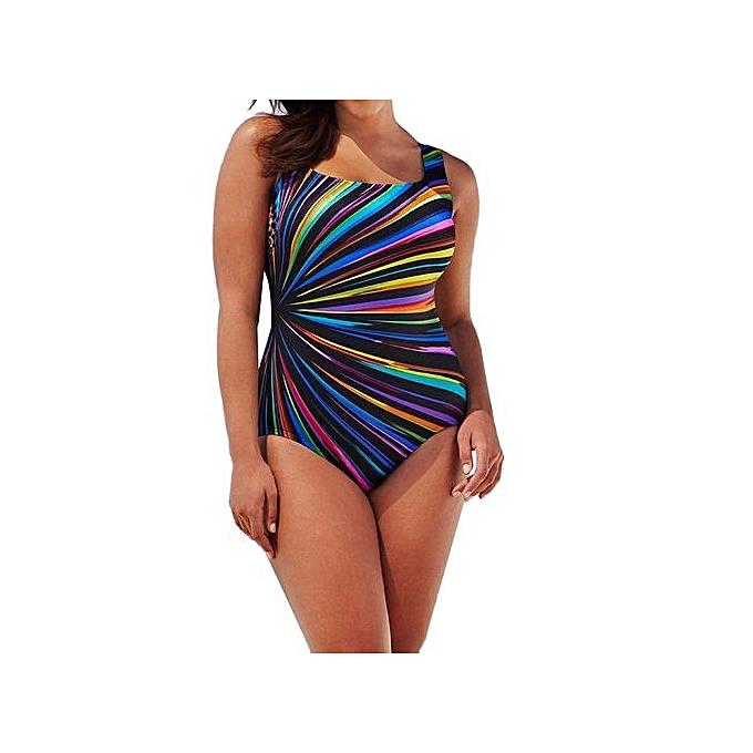 412860b0e1 ... Tectores Womens Swimming Costume Padded Swimsuit Monokini Swimwear Push  Up Bikini Sets Gift - Multi -