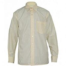 Yellow Plain Mens Long Sleeved Shirts