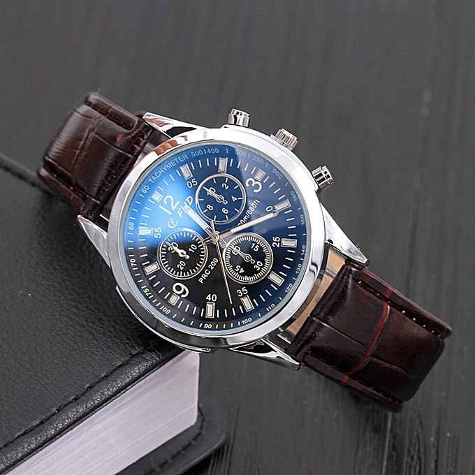 Work Stock On Hand Leather Belt Man Watch Male Form The Student Is Only Blue Glass Leave Three Eye Gift Quartz Forms Explode A Style