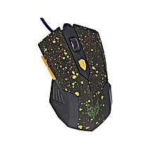2050 - Wired Optical Game Wheel Mouse With 6 Buttons - Black/Yellow