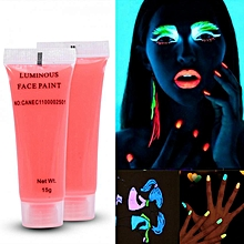 6 Types Color Photoluminescent Glow Bright Fluorescent For DIY Body Art Paint Printing