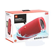 Portable Bluetooth Speaker Charge 3 Red.