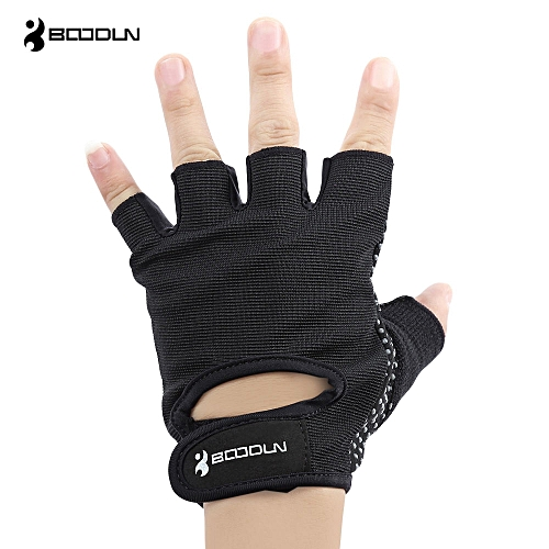 BOODUN Paired Unisex Fitness Sport Exercise Gym Training Glove Black