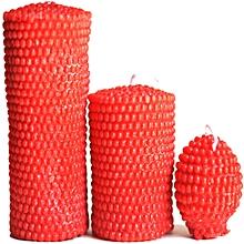 Artisan Candles Red Pearl Pillar - 850g