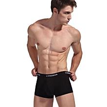LANGSHA Shorts, men's shorts, comfortable waist, natural wood fiber, super soft flat underwear, single pack