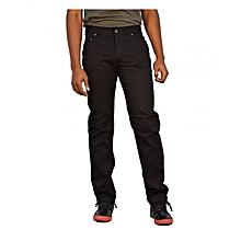 Black Straight Fit Chino Pants