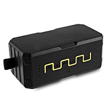 SARDINE F5 Multifunctional Outdoor IP67 Waterproof Portable Power Bank Bluetooth Speaker-YELLOW