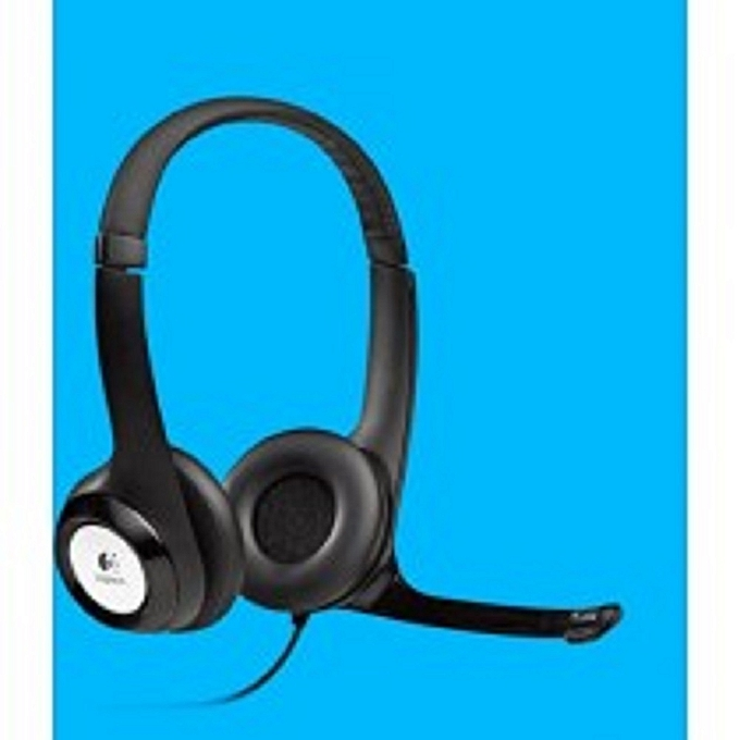 H390 -USB Headset with Noise-Canceling Microphone - Black