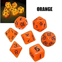 7PCS Sided Dice Luminous Magic-the-Gathering MTG D&D RPG Poly Game