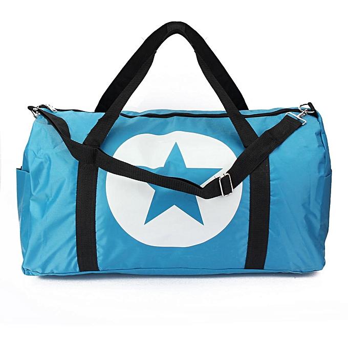 337391230a US Waterproof Travel Women Nylon Large Star Sports Gym Duffle Tote Handbag  Bags ...