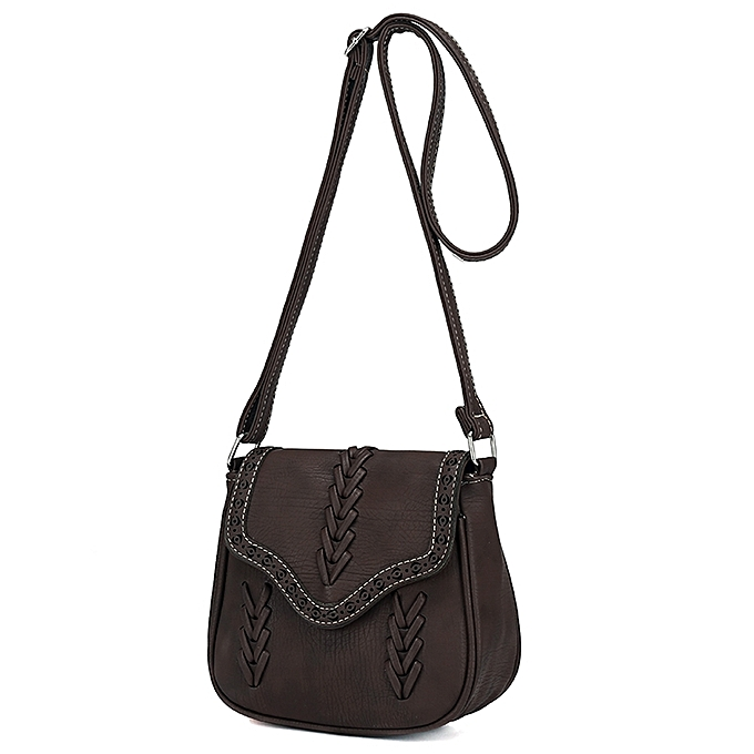 ... New Fashion Women Crossbody Bag PU Leather Hollow Out Woven Braided  Vintage Casual Shoulder Bag ... b3957d0f74ebb