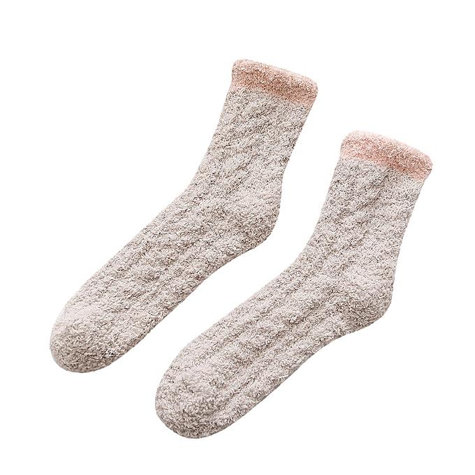 89dfeacc2 Fashion Fohting 1 Pair Women Wave Dot Cotton Socks Multi-Color Cute Women's  Winter Socks -Khaki