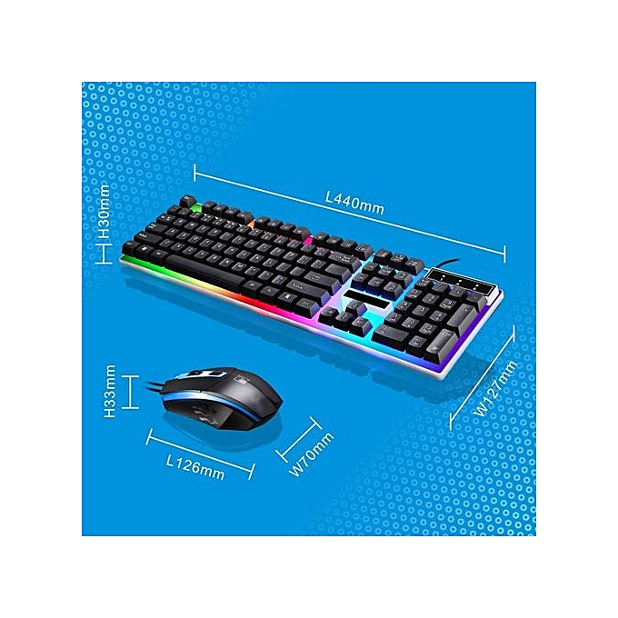 Buy Generic Keyboard LED Rainbow Color Backlight Adjustable Gaming ...
