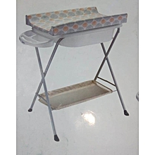Baby bath stand with a changing table