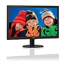 193V5L - LCD monitor with SmartControl Lite - 18.5'' - Black