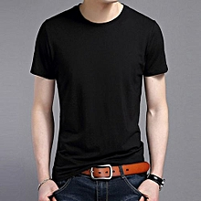 Men's Crew Neck Short Sleeve T-shirt (Black)