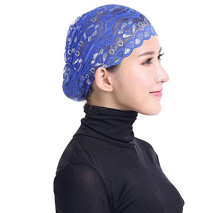 445deef30925b meibaol store Women Hijab Hat Lace Ninja Underscarf Head Islamic Cover Bonnet  Cap Scarf Muslim
