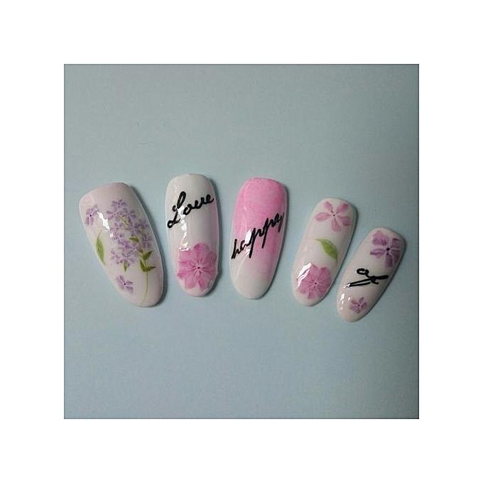 Buy QIBEST bluerdream-Fashion Nail Art Stickers DIY Tips Decoration ...