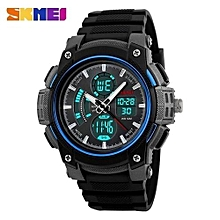 men sport watches dual display analog digital led electronic quartz watches brand male 50m waterproof swimming watch