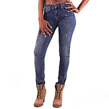 HILLMARTEN Women's Slim Fit Blue Jeans