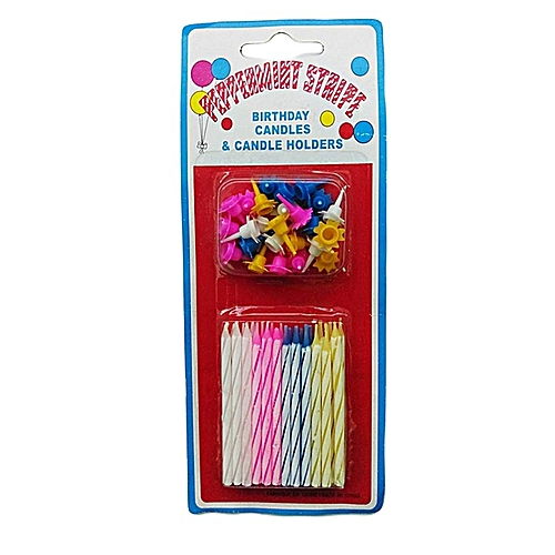 Generic Smokeless Birthday Candles And Candle Holders Safe Cake Decoration