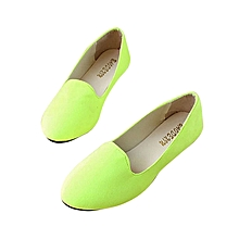 Women Flat Shoes wine lime green