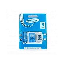 Memory Card + Adapter - 8GB - Black
