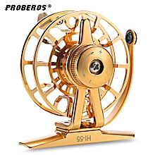 2 + 1BB Full Metal CNC Machined Ice Fly Fishing Reel - Golden